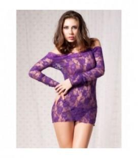 plus size lingerie Rosy Off Shoulder Long Sleeve Plus size