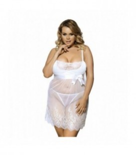 White Plus Size Babydoll