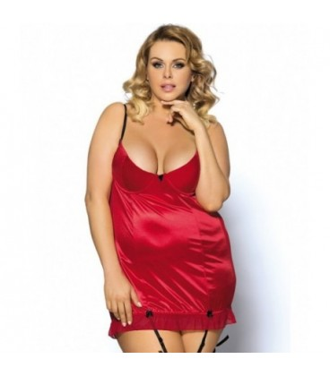 plus size lingerie Red Round Back Queen Size Babydoll