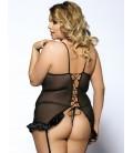plus size lingerie Black Croch Back Floral Bra Plus Size