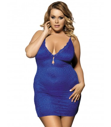 2389a70f8ed Buy Plus Size Blue Luxury Lace Babydoll- Plus size lingerie