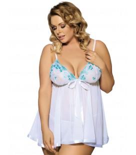 plus size lingerie White Plus Size Melody Babydoll Set