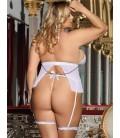 plus size lingerie Plus Size White Sheer Mesh Babydoll Lingerie