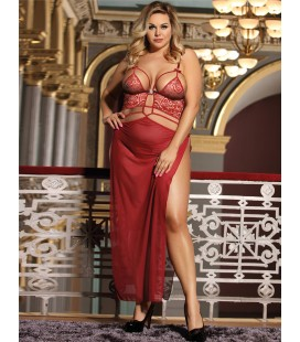Plus Size 2pcs Belle Decolette Love Sexy Gown