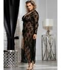 Black Plus Size Delicate Lace Gown