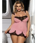 Romantic Plus Size Heart Lace Nightwear