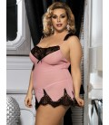 plus size lingerie Romantic Plus Size Heart Lace Nightwear