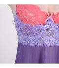 plus size lingerie Plus Size Purple And Pink Lace Cup Babydoll