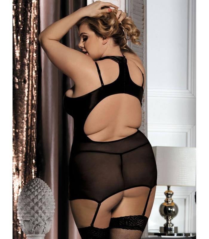 7bbc7738e86 ... plus size lingerie Erotic Black Plus Size Babydoll Set ...
