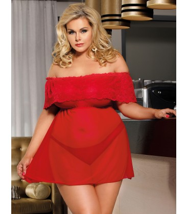 plus size lingerie Plus Size Valentine's Day Style Red