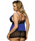 plus size lingerie Plus Size Lace V- Neck Plus Size Babydoll
