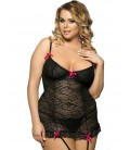 plus size lingerie Black Plus Size Babydoll