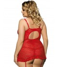 plus size lingerie Red Plus Size Babydoll
