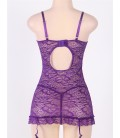 plus size lingerie Purple Plus Size Babydoll