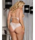 plus size lingerie Plus Size white Lace Temptation 2pcs