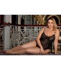 plus size lingerie Glamour Underwire Hollywood Sheer Lace Teddy