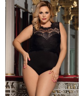 Plus Size Black Lace Sexy Teddy