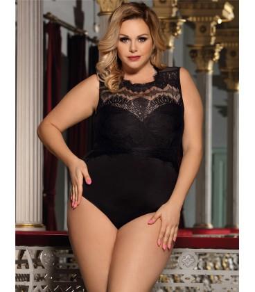 9b32818cf9c Buy Plus Size Black Lace Sexy Teddy- Plus size lingerie