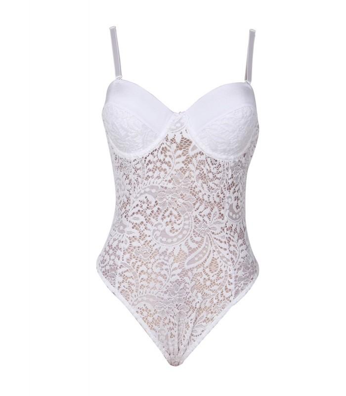 Lingerie Nightwear Women Open Crotch Fishnet Lace Halter Body Stocking Bodysuit