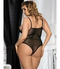 plus size lingerie Plus Size Halter Teddy With Lace Embroidery
