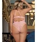 plus size lingerie Plus Size Pink Seduction See Through Lace
