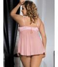 Plus Size Dynamic Pink Cute Dress
