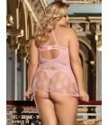 Plus Size Pink Seduction sexy babydoll