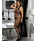 Mash plus size black bodystokings