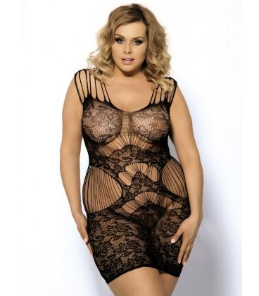 Plus Size Magic Lace Strap Lingerie Dress