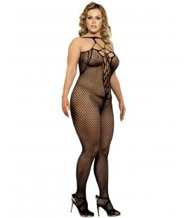 plus size black bodystockings