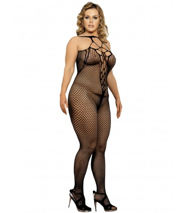 plus size black bodystockings