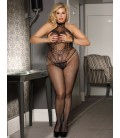 Plus Size Butterfly Pattern Backless BodyStocking