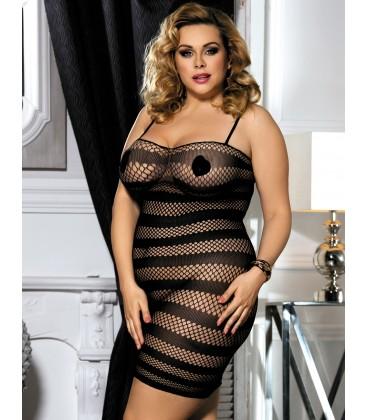 Plus size fishnet dress lingerie