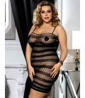 Plus size fishnet dress