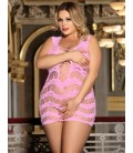 Crocheted Lace Hollow-out Chemise Dress