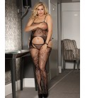 Plus Size Crotchless Fishnet Black Bodystocking